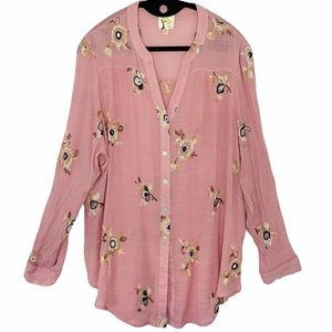 Fig & Flower by Anthropologie embroidered tunic